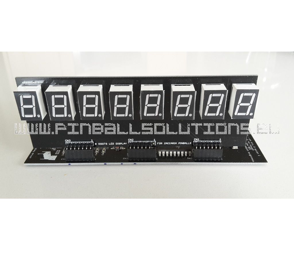 8 Digits Zaccaria LED display (2nd version)