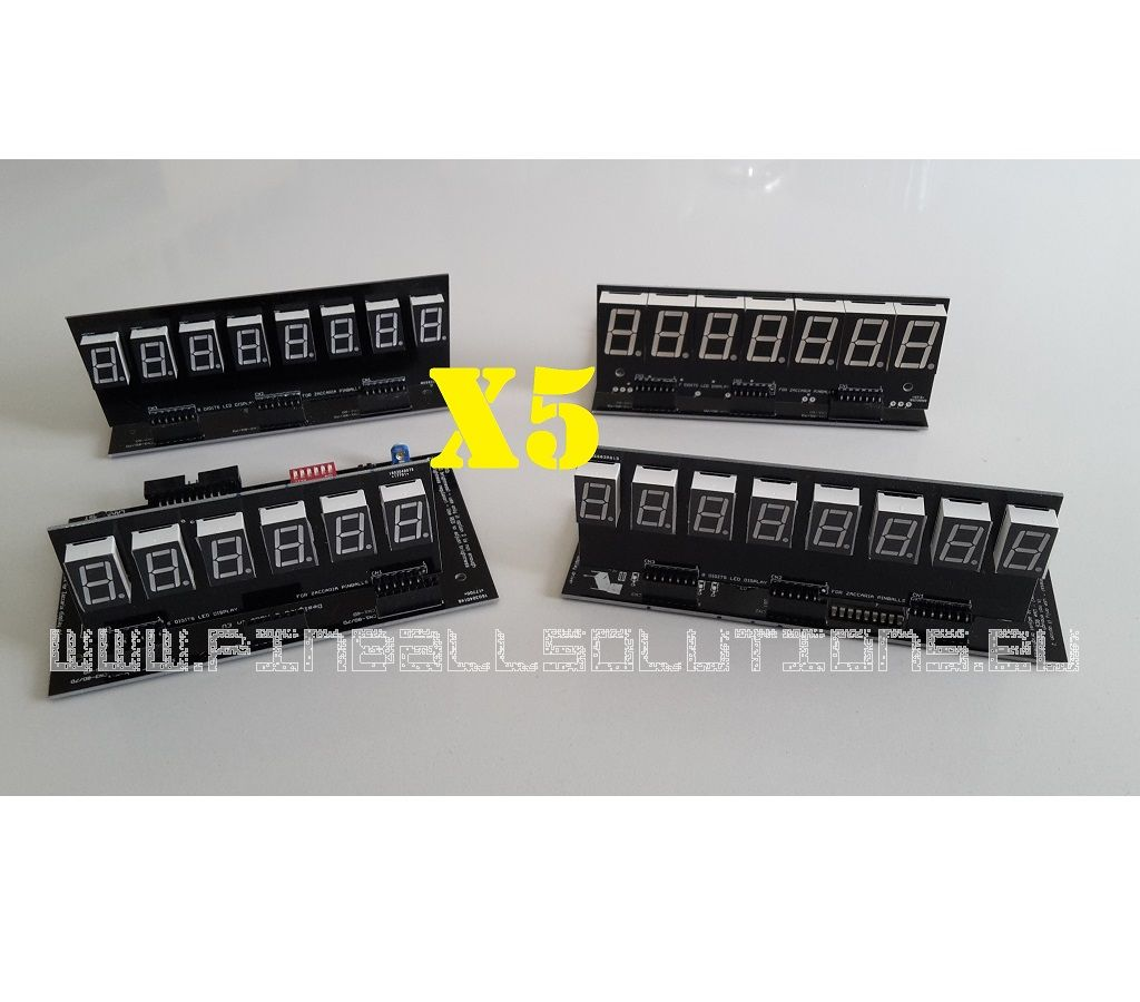 Set of LED displays for Zaccaria pinball machines