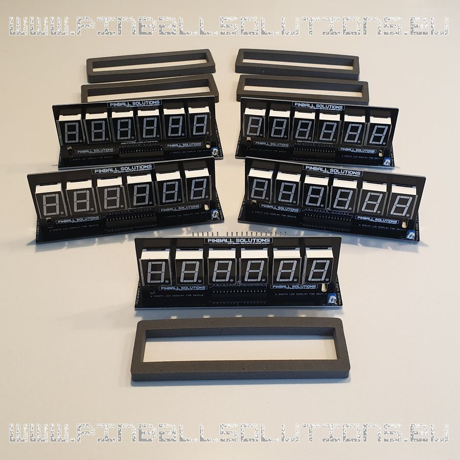 Set of displays for Bally/Stern pinball machines (Amber)