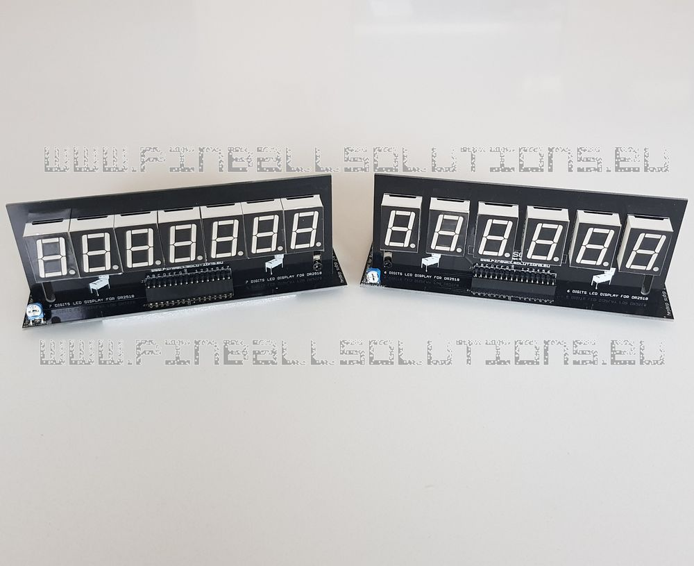 Set of displays for Bally/Stern pinball machines (Amber)
